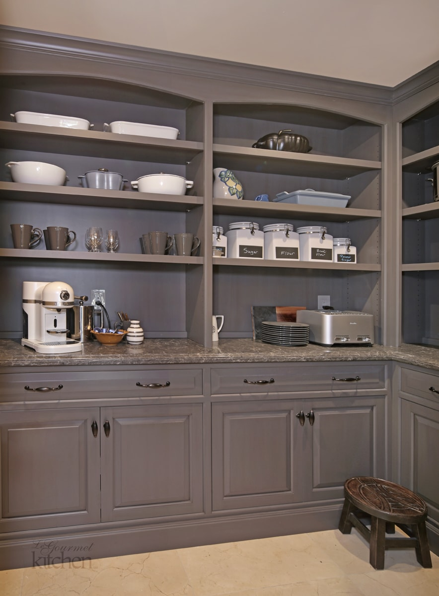 Large pantry with customized storage