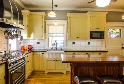 orange kitchen remodeling
