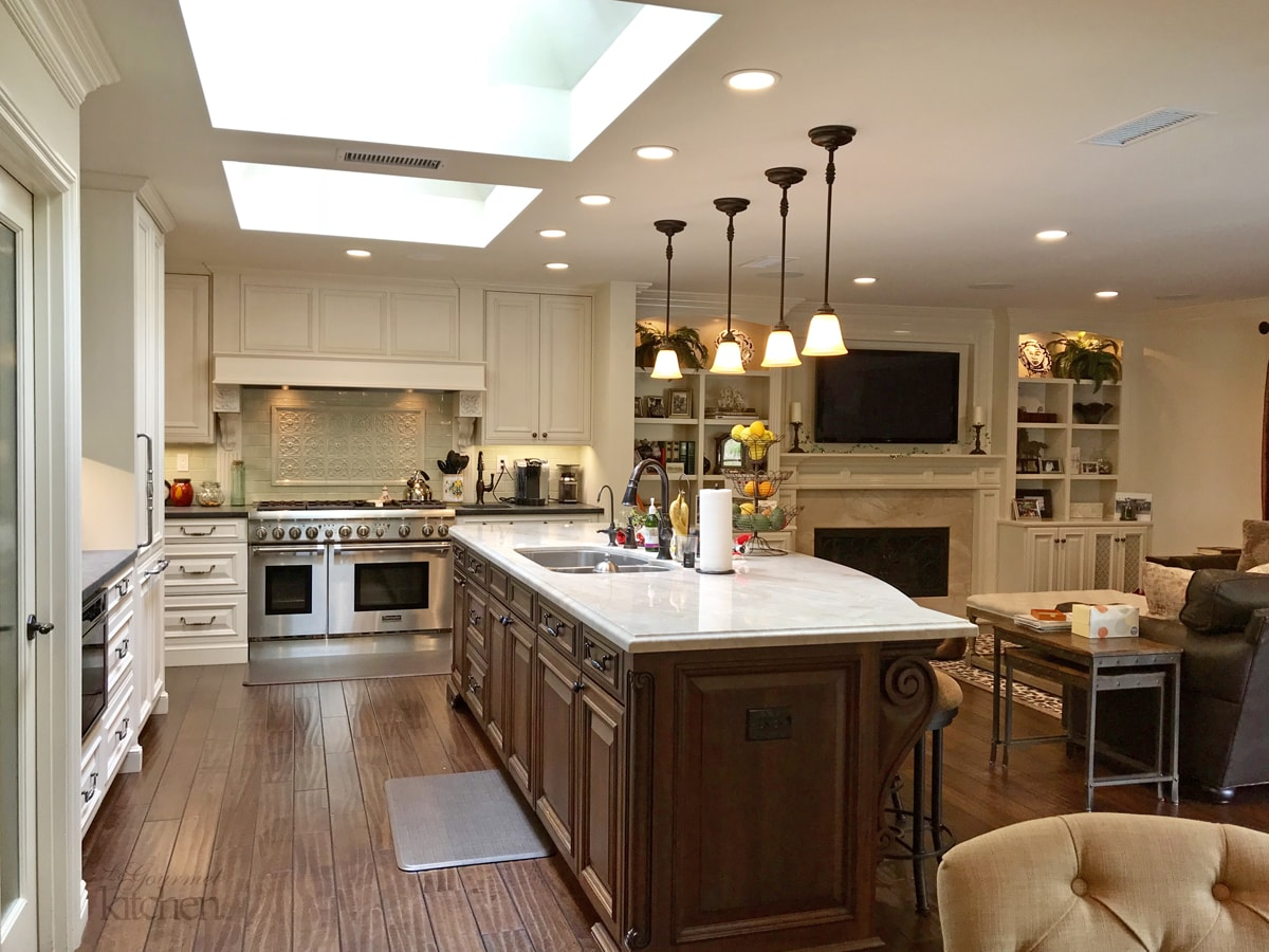 kitchen design with ceiling lights